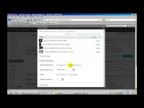 WordPress Tutorial - Where is Insert Image Into Post Button - Add Image Gallery