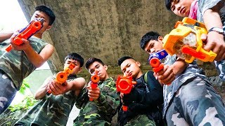 Hihahe Nerf War: SWAT & Xmen Nerf Guns Captain America Fast Squad Nerf War
