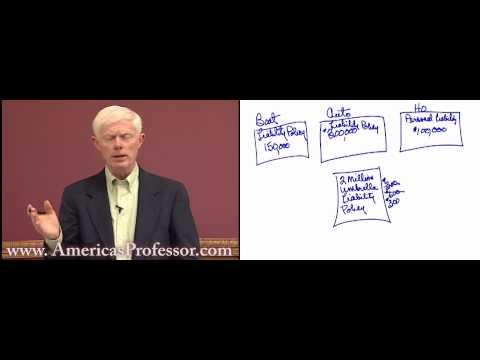 Umbrella Insurance Policy Lecture Demo - AmericasProfessor.com