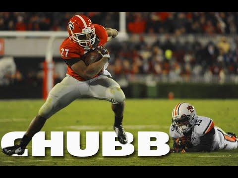 UGA Football: Nick Chubb 11 yd TD run vs Auburn: 2014