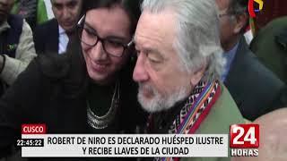 Cusco: Robert de Niro fue declarado huésped ilustre y recibió las llaves de la ciudad