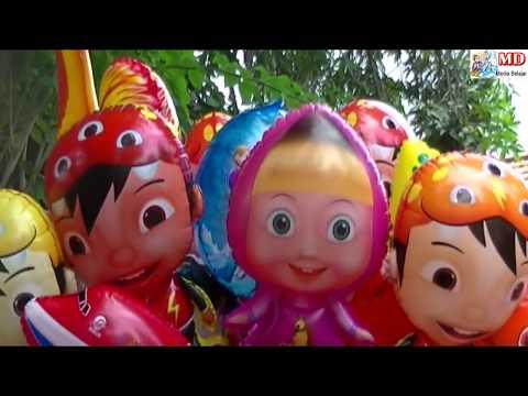Banyak Penjual Balon Terbang Mainan Balon Karakter Pokemon, Upin Ipin, Masha, Boboiboy, Doraemon,etc