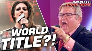 Impact Wrestling Addresses The Future Of The World Championship