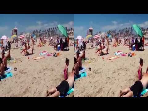 2014 08 31 Huntington Pier California 3d Gopro Wide yt3d