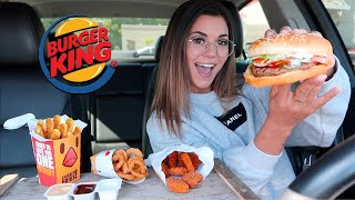 Burger King Mukbang! Whopper, Spicy Chicken Nuggets, Onion Rings & Chicken Fries!!