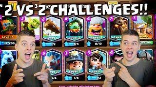 2 VS 2 CHALLENGES!! CLASH ROYALE NEDERLANDS