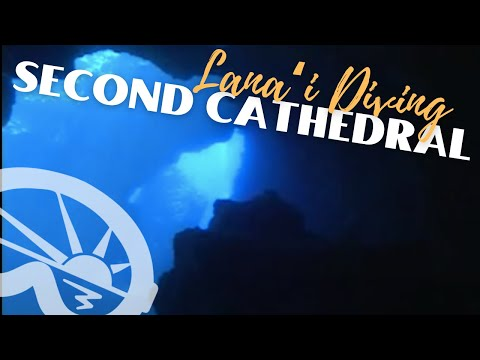 """Second Cathedral"" dive site off Lanai with Extended Horizons Scuba Maui"
