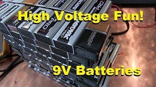 Jacob's ladder with 9V Batteries