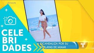 Kim Kardashian escandaliza con sus fotos en Miami Beach | Un Nuevo Día | Telemundo
