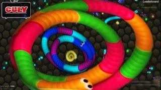 Chơi rắn săn mồi Slither.io được hạng 1 top ✓ vui quá - cu lỳ chơi game #27 - funny gameplay