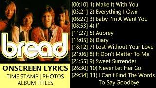David Gates & Bread Greatest Hits With LYRICS