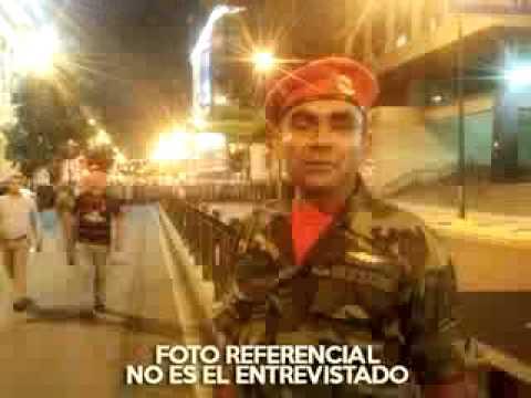 SARGENTO SOLDADO DEL 4F PROTESTANDO EN MIRAFLORES