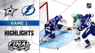NHL Highlights | Stanley Cup Final, Gm1 Dallas Stars @ Tampa Bay Lightning - Sept. 19, 2020