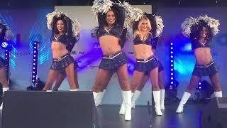Los Angeles Rams Cheerleaders Performing at NFLUK TailGate Party, Twickenham Stadium, 22/10/17