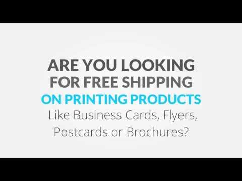 Free Shipping on Printing