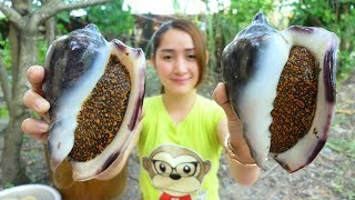 Yummy Cooking Sea Snail Spicy Young Green Pepper Recipe - Yummy Eating Sea Snail - Cooking With Sros