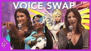 Overwatch voice swap with Mercy, Pharah, Symmetra, and Sombra