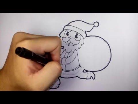 ซานตาครอส วันคริสมาสต์ และ ปีใหม่ merry christmas and happy new year   วาดการ์ตูน กันเถอะ สอนวาดรูป