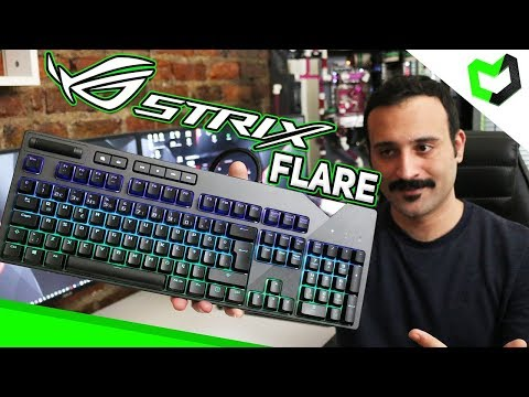 video Asus Rog Strix Flare RGB Klavye