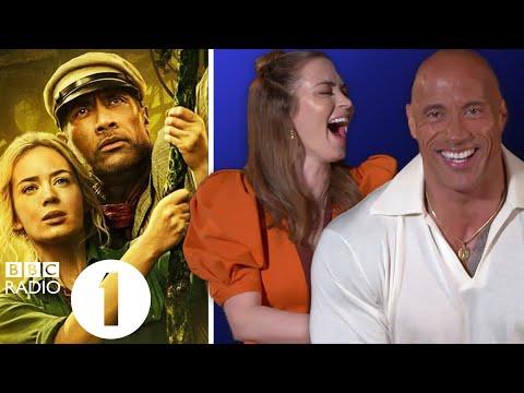 """Stunty Blunty!"" Dwayne 'The Rock' Johnson, Emily Blunt & Jack Whitehall on Jungle Cruise nicknames"