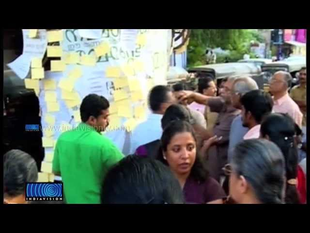 Post card protest on cutting trees at thiruvananthapuram