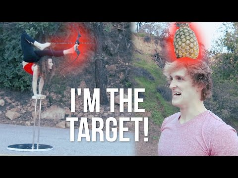 CRAZY FLEXIBLE GIRL SHOOTS ARROW AT MY FACE WITH HER FEET!
