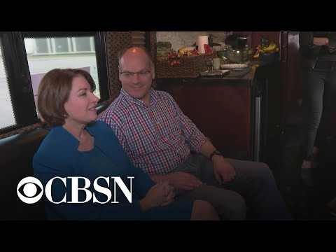 First on CBSN: Amy Klobuchar and husband talk life and the 2020 campaign