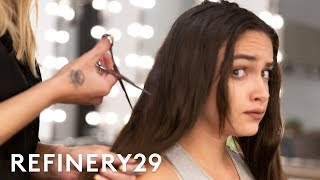 I Chopped Off 12 Inches Of Hair To Look Like Kylie Jenner | Hair Me Out | Refinery29