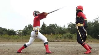 Batalla contra Gedoshu ShinkenRed - Gosei Red vs Shinken Red | Sentai Goseiger vs Shinkenger [3]