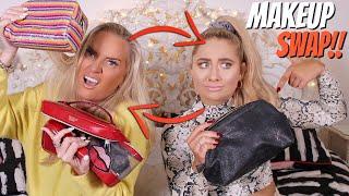 Makeup bag SWAP with MY MUM!! 😱 Swapping makeup!!