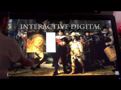 Interactive Touch Display with Museum Content