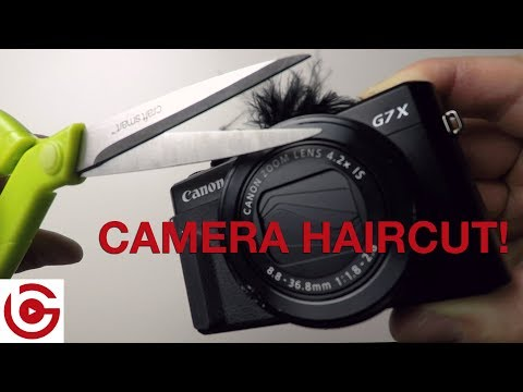 How to put a wind muff on a canon g7x mark ii