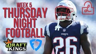 NFL WEEK 5 THURSDAY NIGHT FOOTBALL DRAFTKINGS AND FANDUEL LINEUPS AND STRATEGY