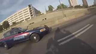 Police ask biker for a Wheelie then turns lights on!
