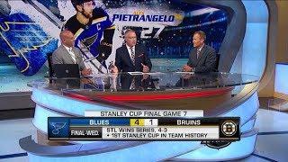 NHL Tonight:  Alex Pietrangelo:  Breaking down Pietrangelo's late goal in the first  Jun 13,  2019