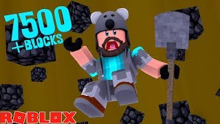 I DUG THROUGH THE BOTTOM!! 7500+ BLOCKS!! | ROBLOX TREASURE HUNT SIMULATOR!
