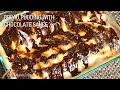 Bread Pudding with Chocolate Sauce (Eggless, Easy to Make) dessert Recipe by Manjula