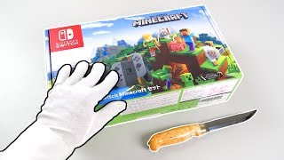 """Nintendo Switch """"MINECRAFT"""" Console Unboxing! (Super Mario skins pack)"""