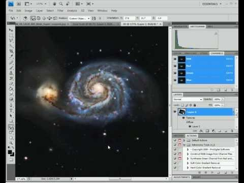 Convert 2D Photo Into 3D Photo - Photoshop Astrophotography Tutorial