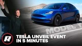 Tesla Model Y Reveal Event in 5 Minutes