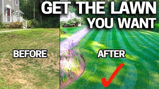 How to FIX an UGLY Lawn with RESULTS - Step by Step for Beginners - Renovation