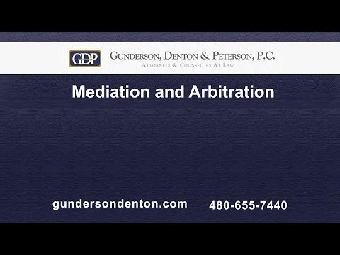 Mediation and Arbitration | Brad Denton