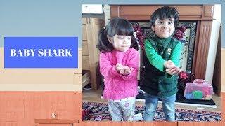 Cute Boy And Little Girl Dancing Baby Shark | Dance Challenge |  Ana Glenda