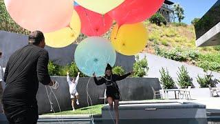 David Blaine ties Dixie to Giant Balloons  | The D'Amelios