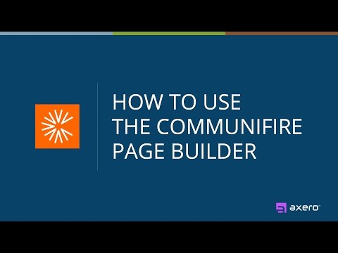 How to Use the Communifire Intranet Software Page Builder