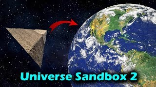 Dropping a Pyramid From Orbit [And at lightspeed] - Universe Sandbox 2