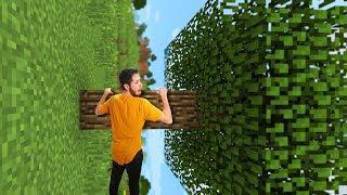 Minecraft Survival Except The World Is SIDEWAYS!