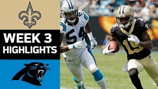 Saints vs. Panthers | NFL Week 3 Game Highlights