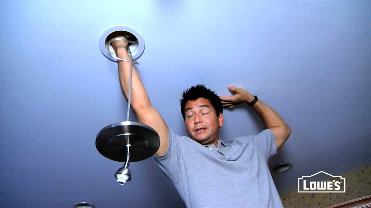 How To Convert A Recessed Light To A Pendant Light Youtube