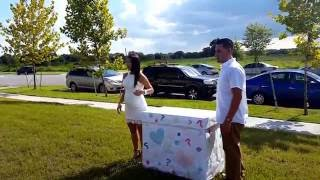 Great Baby Gender Reveal idea, Smoke Grenade